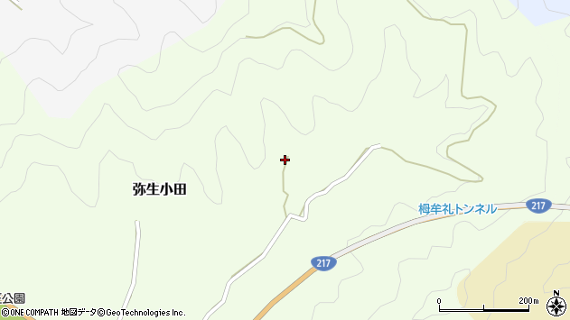 大分県佐伯市弥生大字小田605周辺の地図