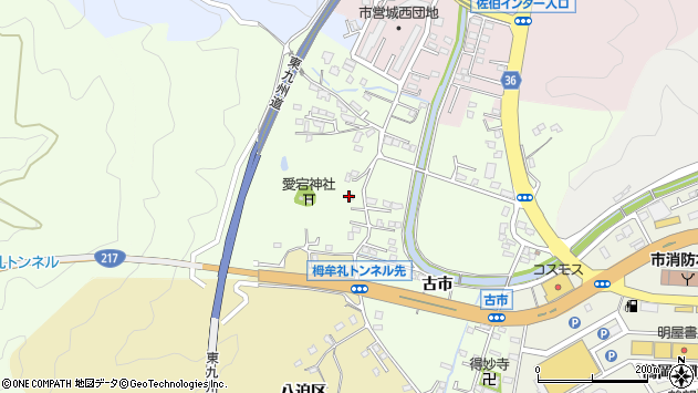 大分県佐伯市稲垣210周辺の地図
