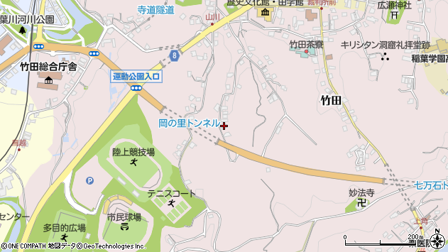 大分県竹田市竹田2307周辺の地図