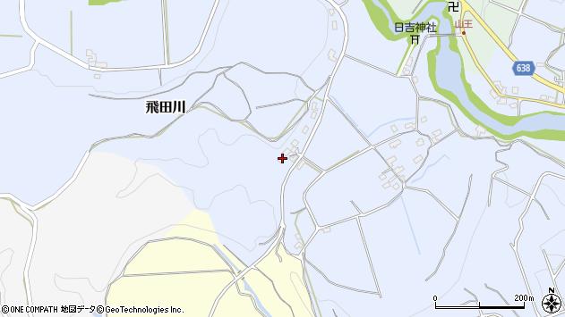 大分県竹田市飛田川702周辺の地図