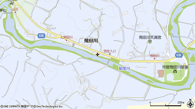 大分県竹田市飛田川2351周辺の地図