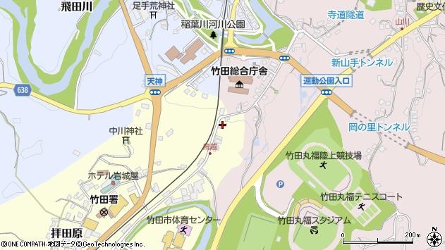 大分県竹田市拝田原66周辺の地図