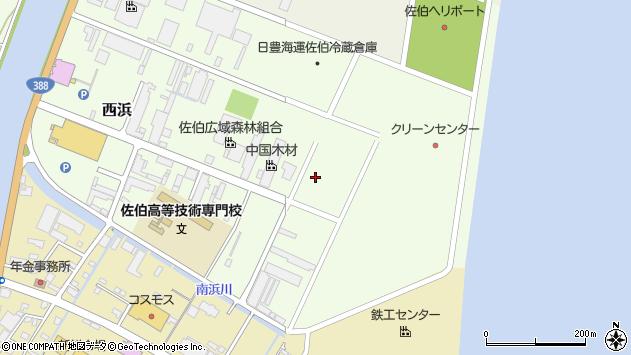 大分県佐伯市西浜6周辺の地図