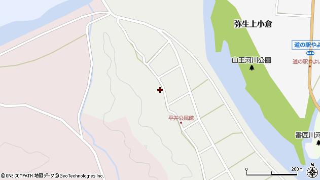 大分県佐伯市弥生大字平井305周辺の地図