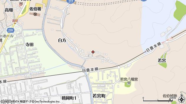 大分県佐伯市鶴望3955周辺の地図