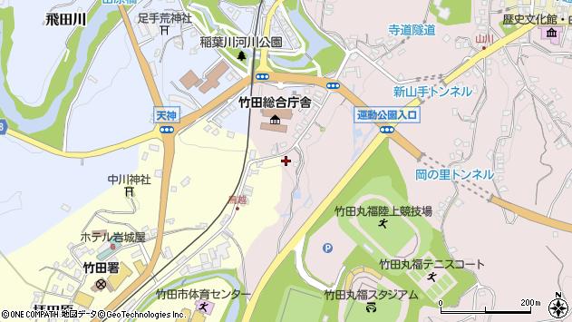 大分県竹田市拝田原59周辺の地図