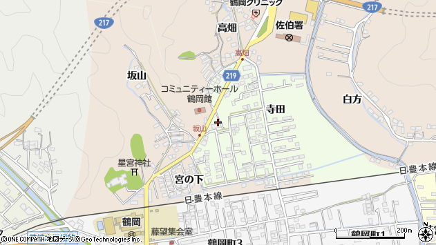 大分県佐伯市鶴望2555周辺の地図