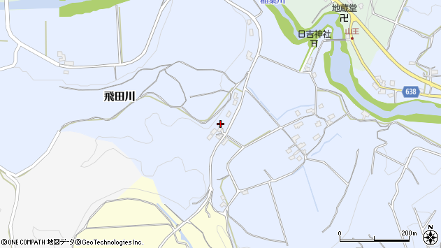 大分県竹田市飛田川679周辺の地図