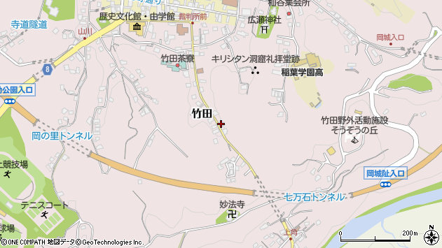 大分県竹田市竹田2473周辺の地図