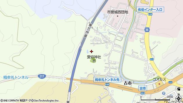大分県佐伯市稲垣古市区周辺の地図