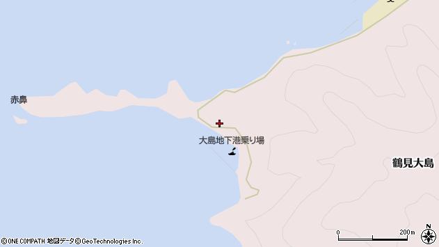 大分県佐伯市鶴見大字大島381周辺の地図