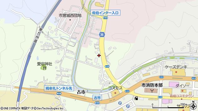 大分県佐伯市稲垣380周辺の地図