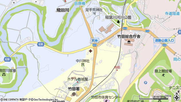 大分県竹田市拝田原126周辺の地図