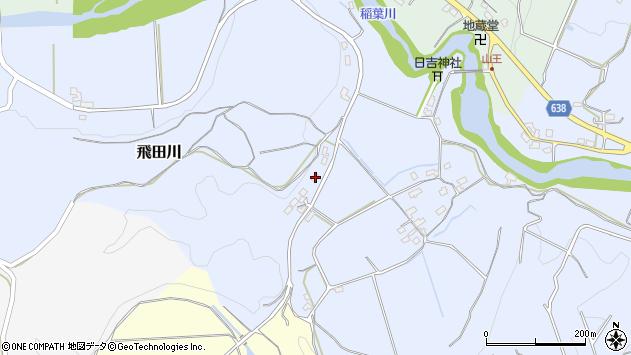 大分県竹田市飛田川686周辺の地図