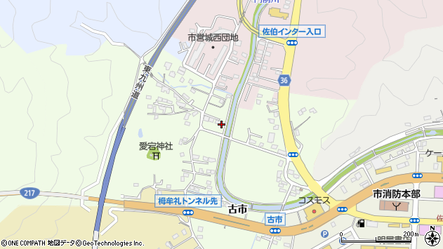 大分県佐伯市稲垣120周辺の地図