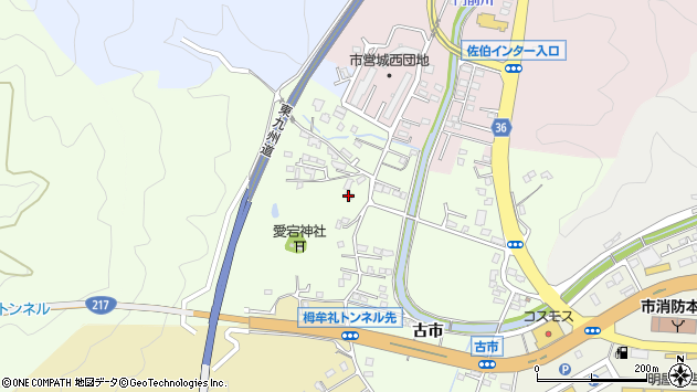 大分県佐伯市稲垣188周辺の地図