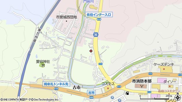 大分県佐伯市稲垣368周辺の地図