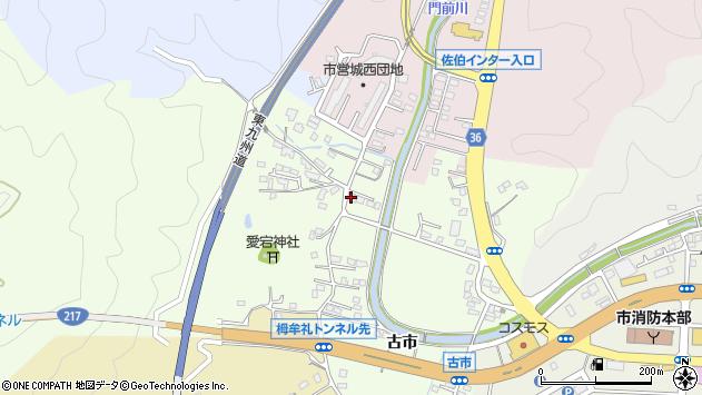 大分県佐伯市稲垣135周辺の地図