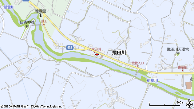 大分県竹田市飛田川2526周辺の地図