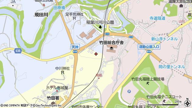大分県竹田市拝田原111周辺の地図