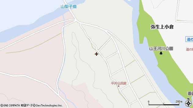 大分県佐伯市弥生大字平井326周辺の地図