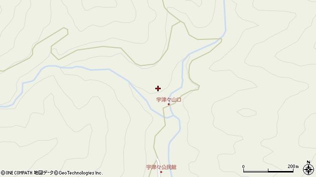 大分県佐伯市本匠大字宇津々864周辺の地図