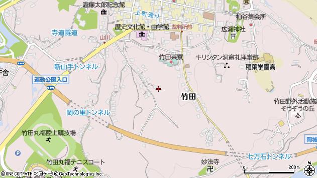 大分県竹田市竹田稲荷谷周辺の地図