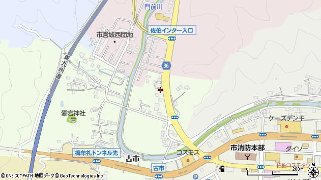 大分県佐伯市稲垣367周辺の地図