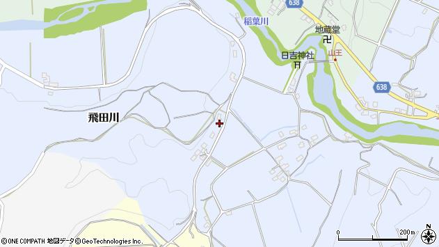 大分県竹田市飛田川690周辺の地図