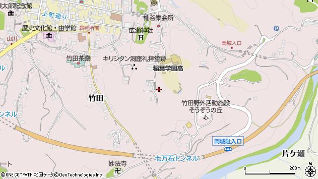 大分県竹田市竹田杣谷周辺の地図