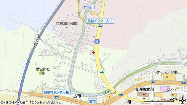 大分県佐伯市稲垣3452周辺の地図