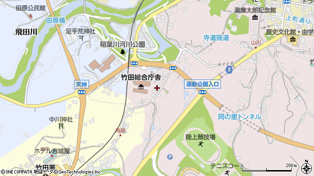 大分県竹田市竹田1515周辺の地図
