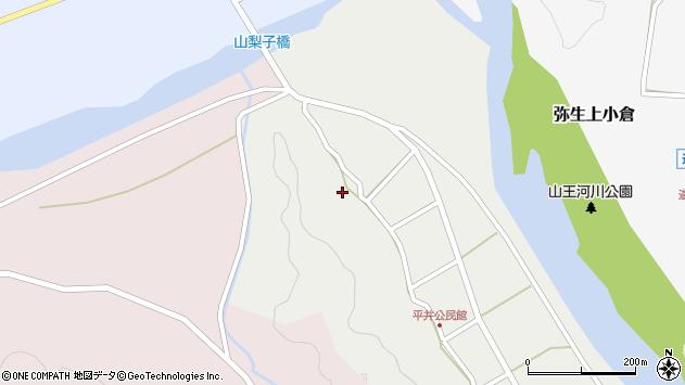 大分県佐伯市弥生大字平井335周辺の地図