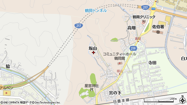 大分県佐伯市鶴望2502周辺の地図
