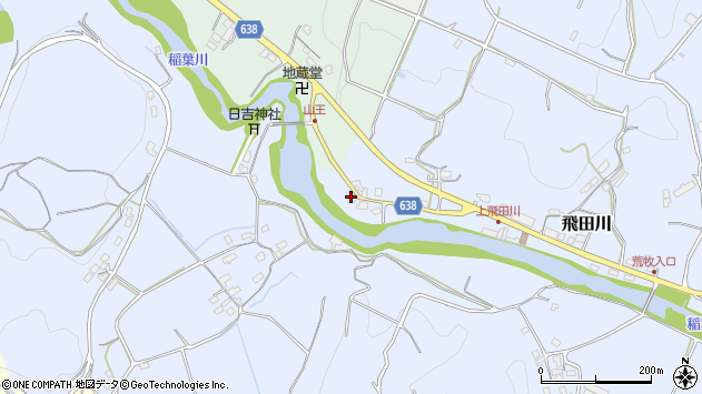 大分県竹田市飛田川2673周辺の地図