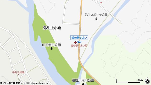 大分県佐伯市弥生大字上小倉948周辺の地図