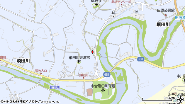 大分県竹田市飛田川2235周辺の地図