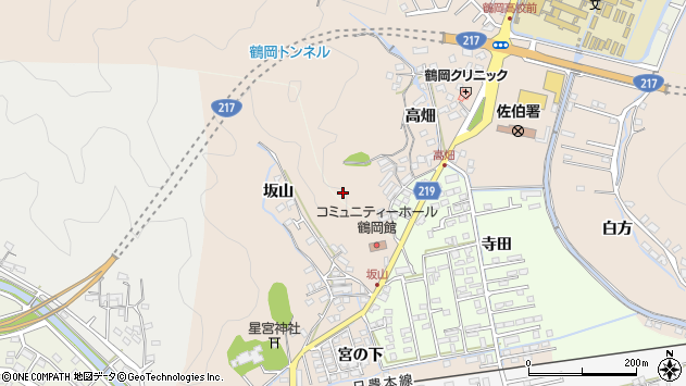 大分県佐伯市鶴望寺田区周辺の地図