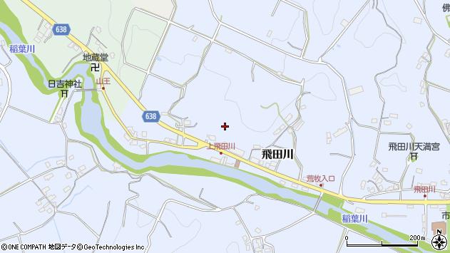 大分県竹田市飛田川上飛田周辺の地図