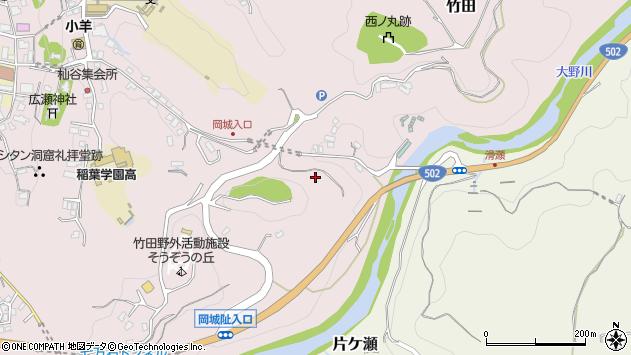 大分県竹田市竹田提灯谷周辺の地図