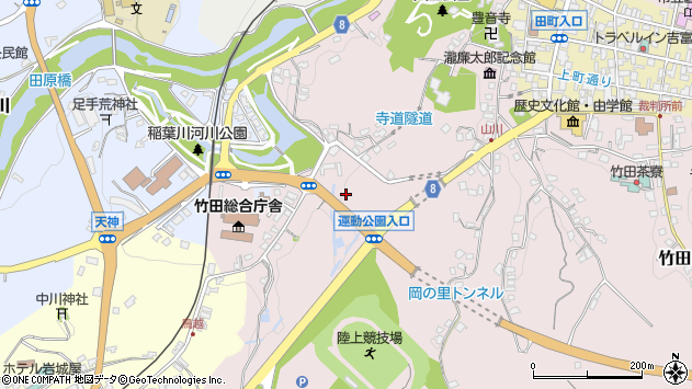 大分県竹田市竹田山手周辺の地図