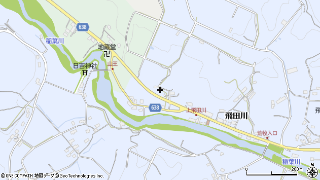 大分県竹田市飛田川2648周辺の地図