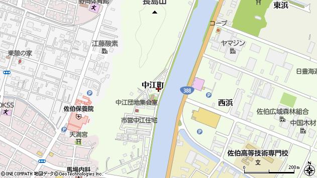 大分県佐伯市中江町4周辺の地図