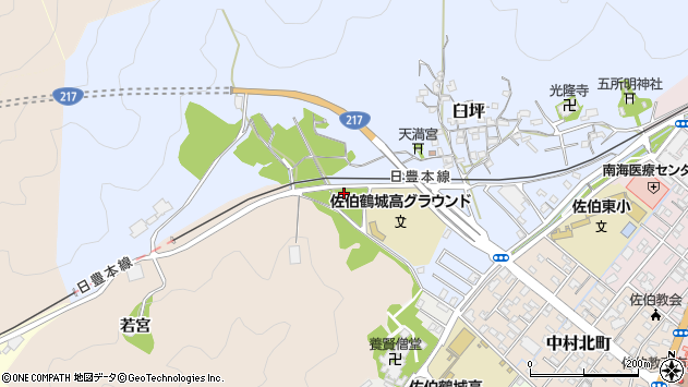 大分県佐伯市臼坪6周辺の地図