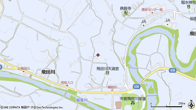 大分県竹田市飛田川2356周辺の地図