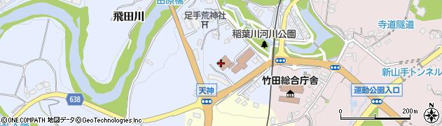 大分県竹田市飛田川周辺の地図