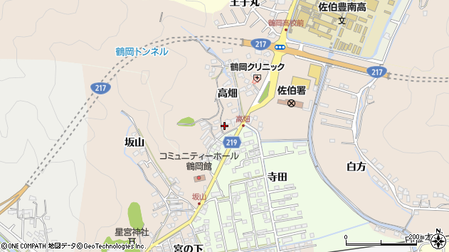 大分県佐伯市鶴望2716周辺の地図
