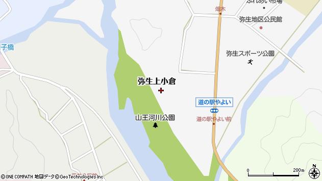 大分県佐伯市弥生大字上小倉796周辺の地図