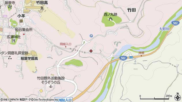 大分県竹田市竹田352周辺の地図