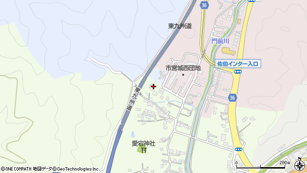 大分県佐伯市稲垣94周辺の地図